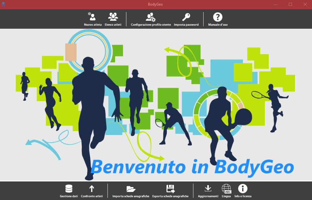 Progeo | BodyGeo - software per valutazioni antropometriche - Schermata
