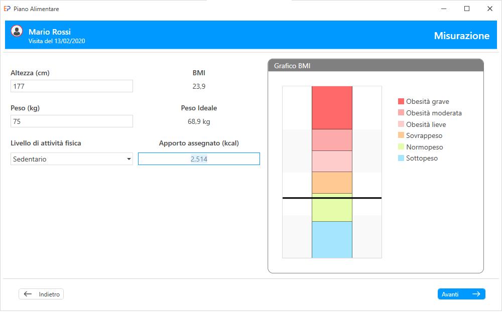 Progeo | EasyPlan - Misurazione - software per elaborazione di diete di base per una sana e varia alimentazione