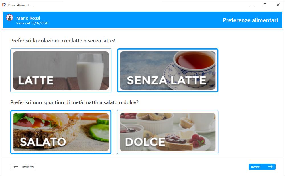 Progeo | EasyPlan - Scelta alimenti - software per elaborazione di diete di base per una sana e varia alimentazione