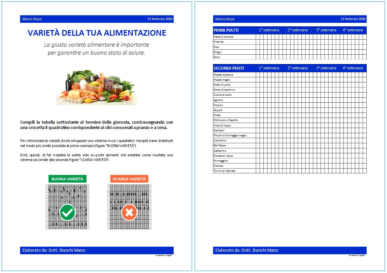 Progeo | EasyPlan - Varietà - software per elaborazione di diete di base per una sana e varia alimentazione