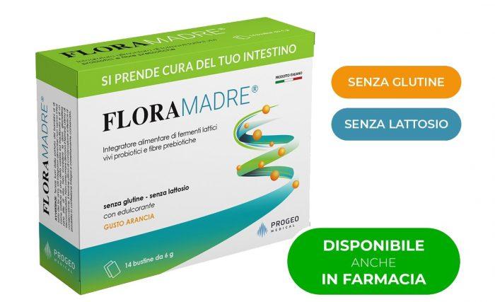 Progeo | Floramadre - fermenti lattici per la salute del tuo intestino Combatte gli squilibri della flora batterica intestinale. Naturalmente efficace
