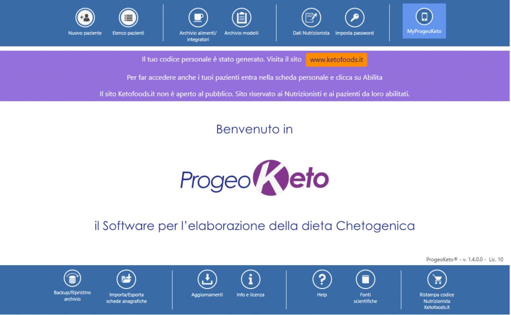 ProgeoKeto e Ketofoods.it - ProgeoKeto è il Software per la Creazione di Diete Chetogeniche Personalizzate della Progeo Medical