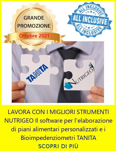 Progeo | Nutrigeo + Tanita bioimpedenziometri con bilancia - Promozione Ottobre 2021